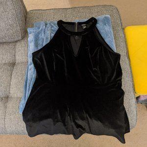 Torrid Black Velvet Halter Top